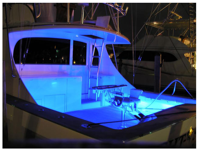 Led strip light examples led boat and marine lighting examples mozeypictures Image collections