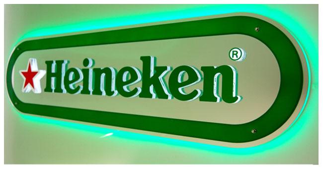 LED strip light example signage logo