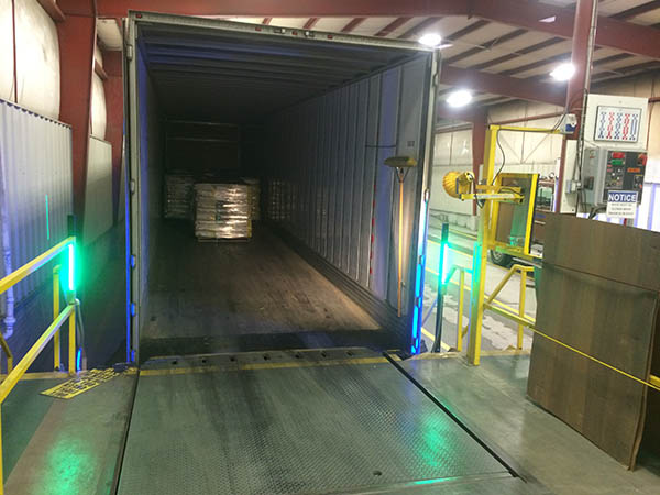 led truck dock lighting green strip light