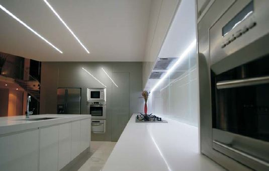 Led strip light examples and ideas under cabinet and counter under cabinet lighting for kitchens aloadofball