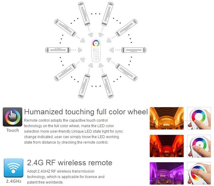 Multi Zone RGB LED Remote - 10-Zone Control with One Remote