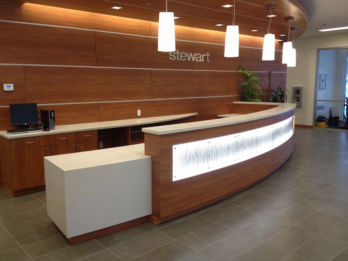 reception area accent lighting