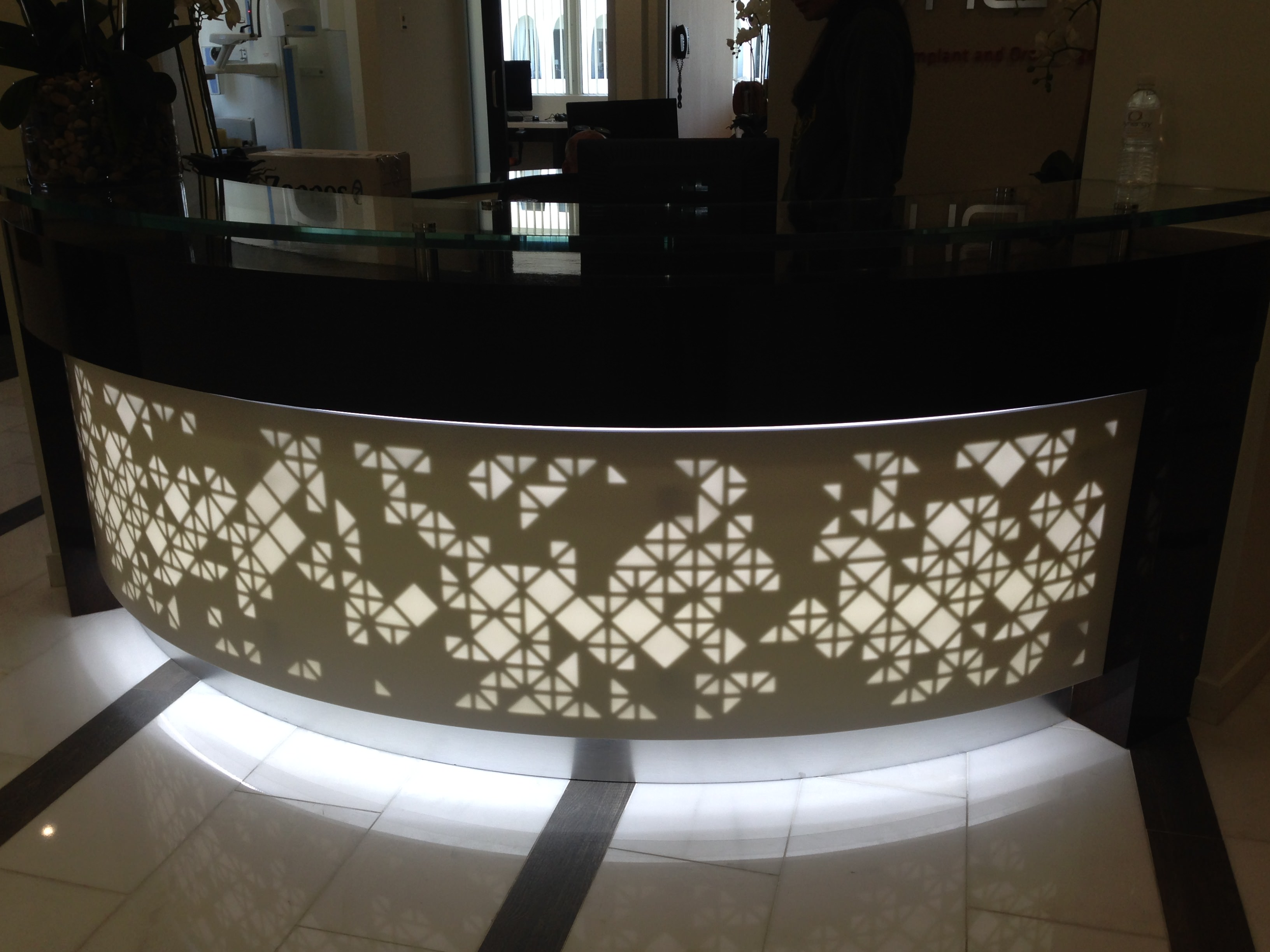 reception desk backlighting hotel 01
