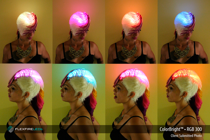 rgb hair lighting design fashion show