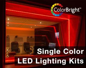 Single Color LED Strip Lighting Kits