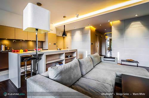 led strip lights in modern living room lighting design
