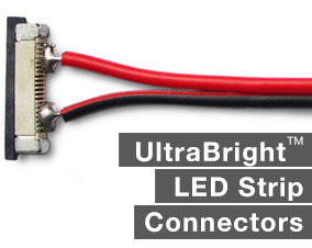 Connecting led flexible strip lights with solderless connectors led ultrabright led strip light connectors mozeypictures Choice Image