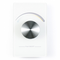 Wireless wall mounted controller for dynamic tunable led strip lights