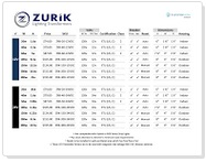 Zurik Comparison sheet