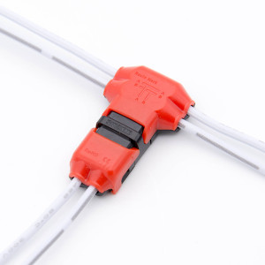 snap on wire connectors single wire t connector rh flexfireleds com Waterproof 12V Trolling Motor Connectors 12v wiring connector sets