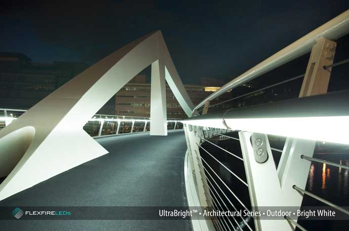 architectural handrail lighting bridge