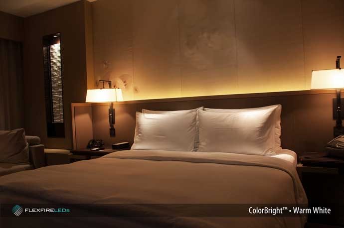 residential led strip lighting projects from flexfire leds 10485 | bed headboard accent lighting strips