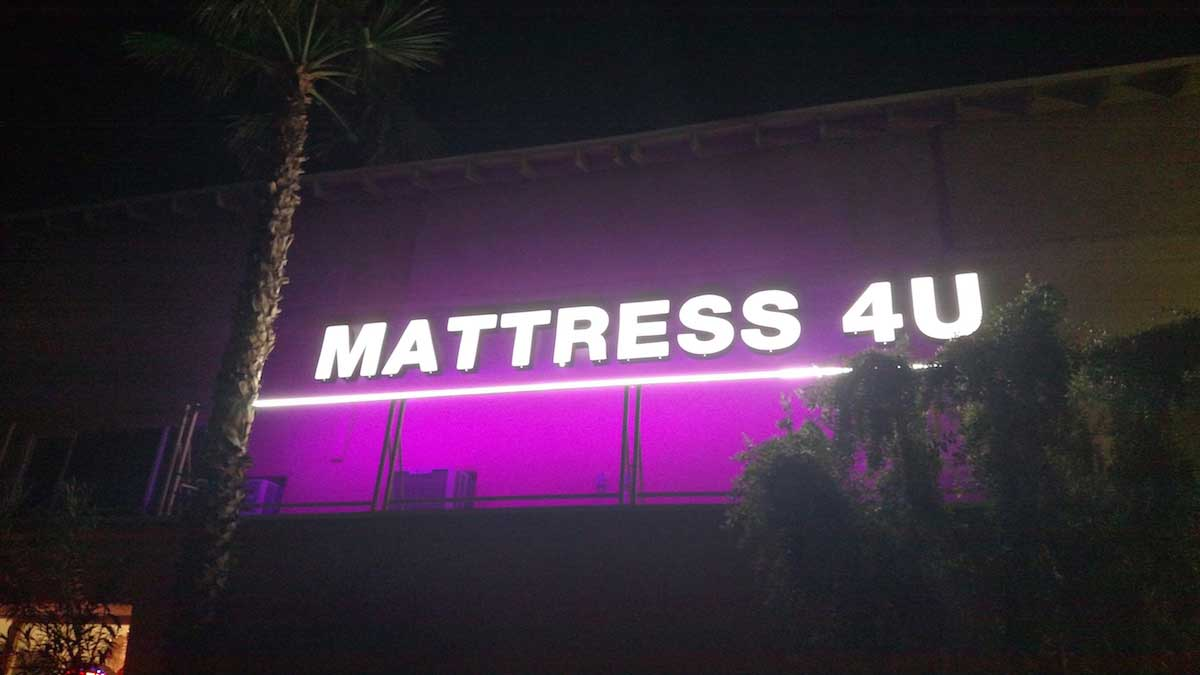 bright signage lighting with LED strips 02