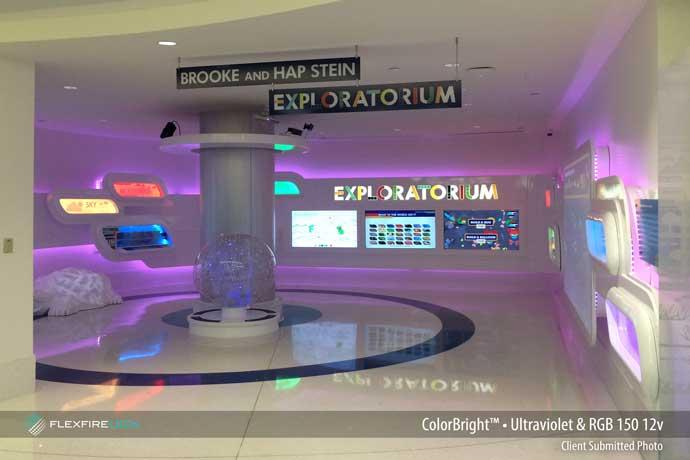 exploratorium color changing accent lighting