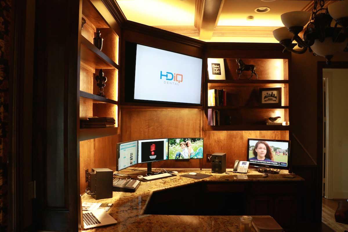 home office desk lighting
