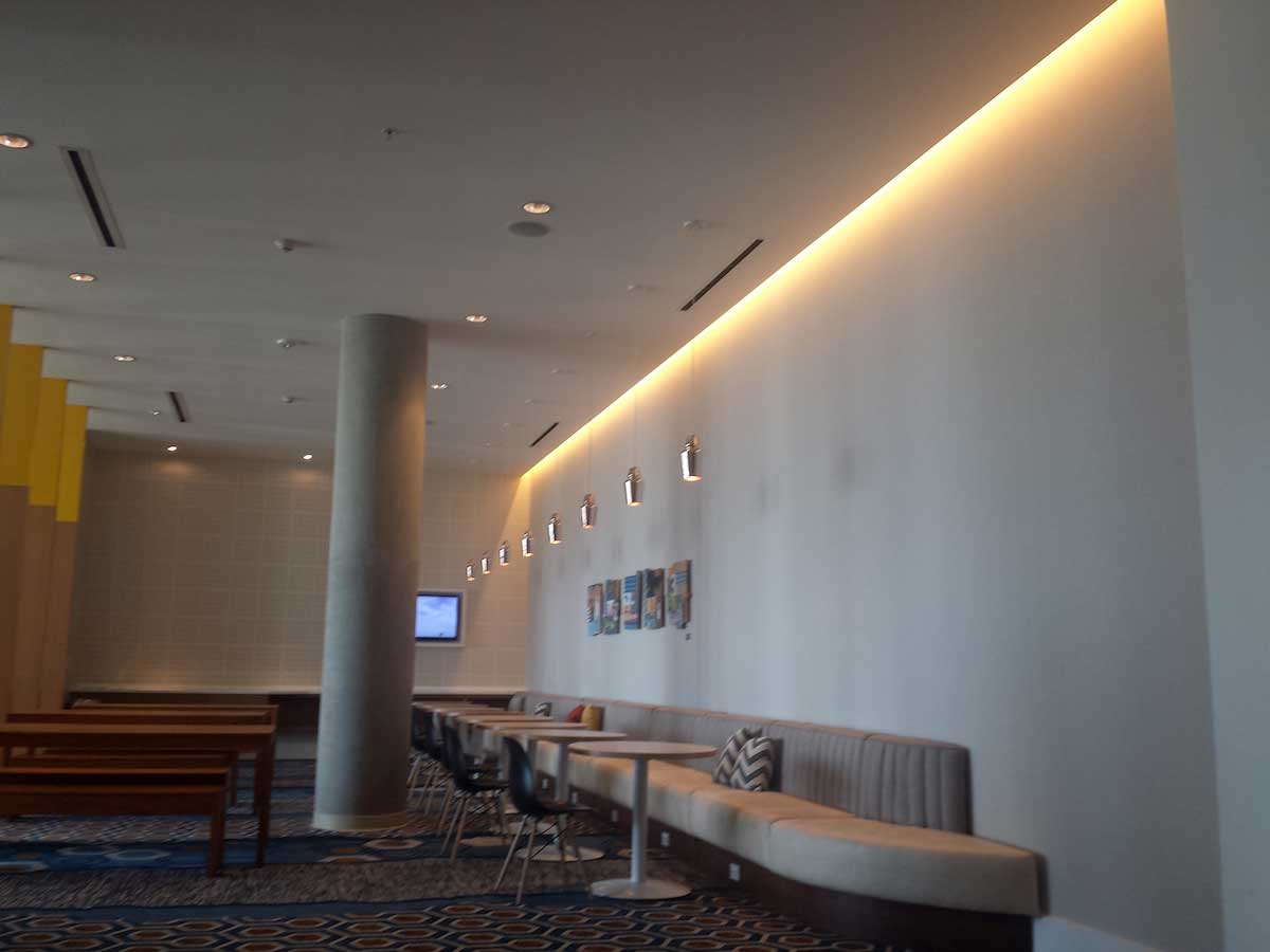 hotel cove lighting example