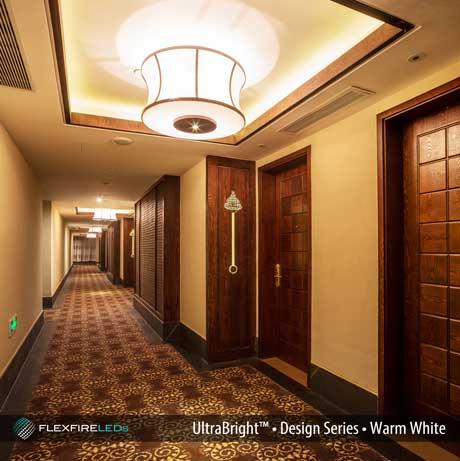hotel hallway LED cove lighting