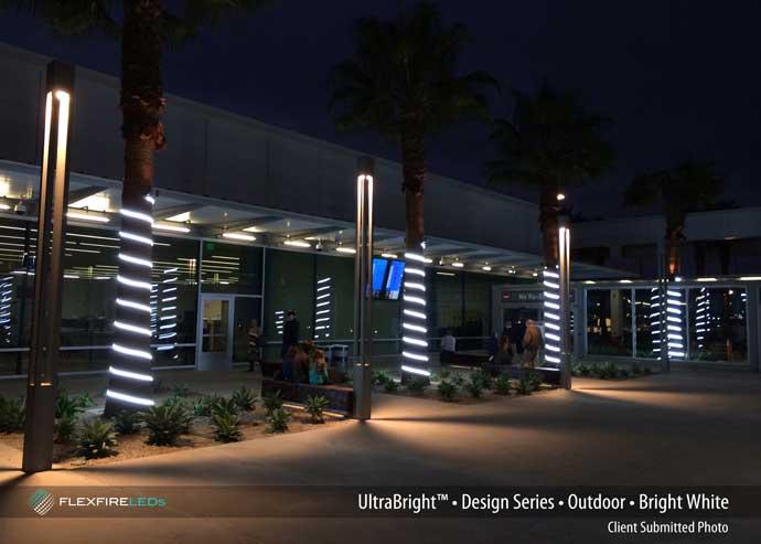 long beach airport strip light trees
