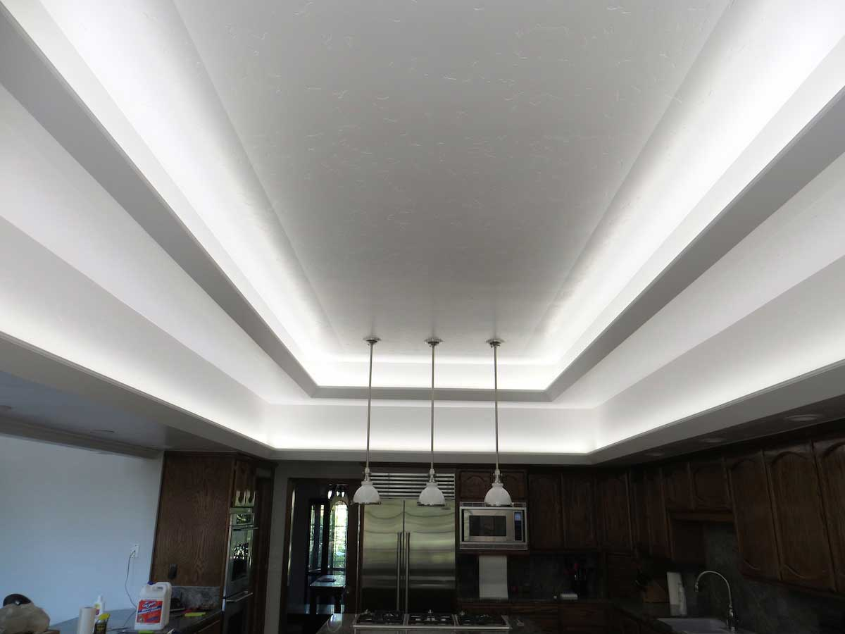 Modern kitchen LED cove lighting 3