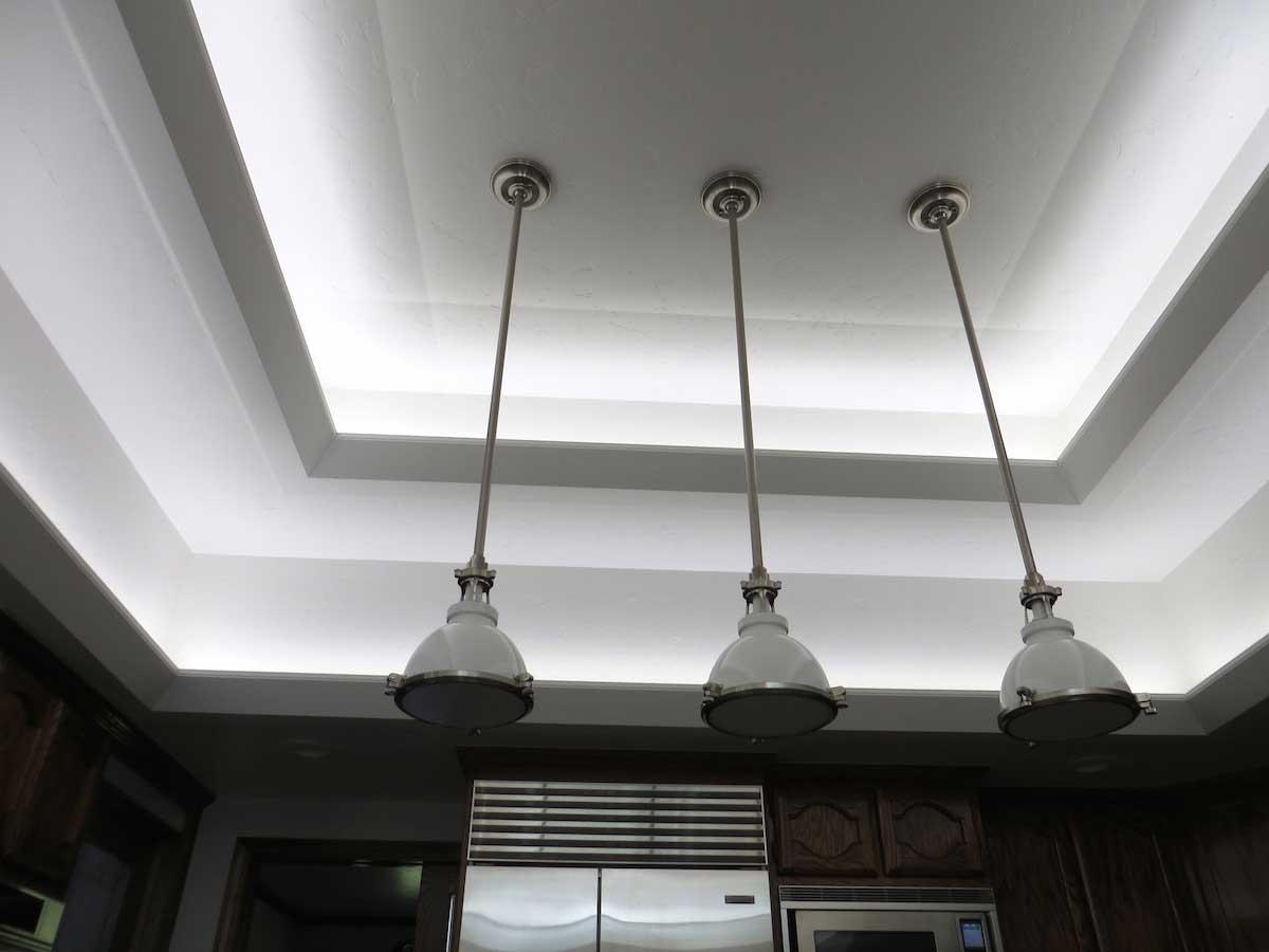 Modern kitchen LED cove lighting 4
