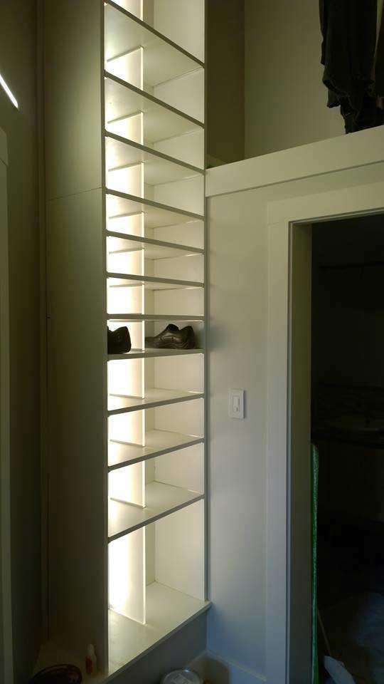 Modern LED closet installation