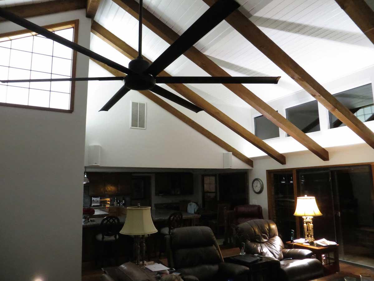 Modern living room uplighting LEDs