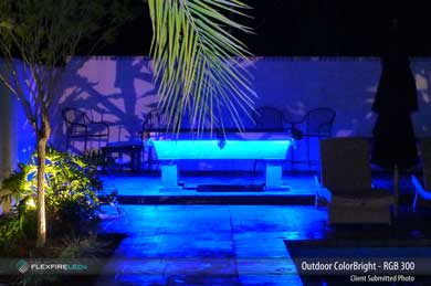 Outdoor Patio Pool Table LED Strip Lighting