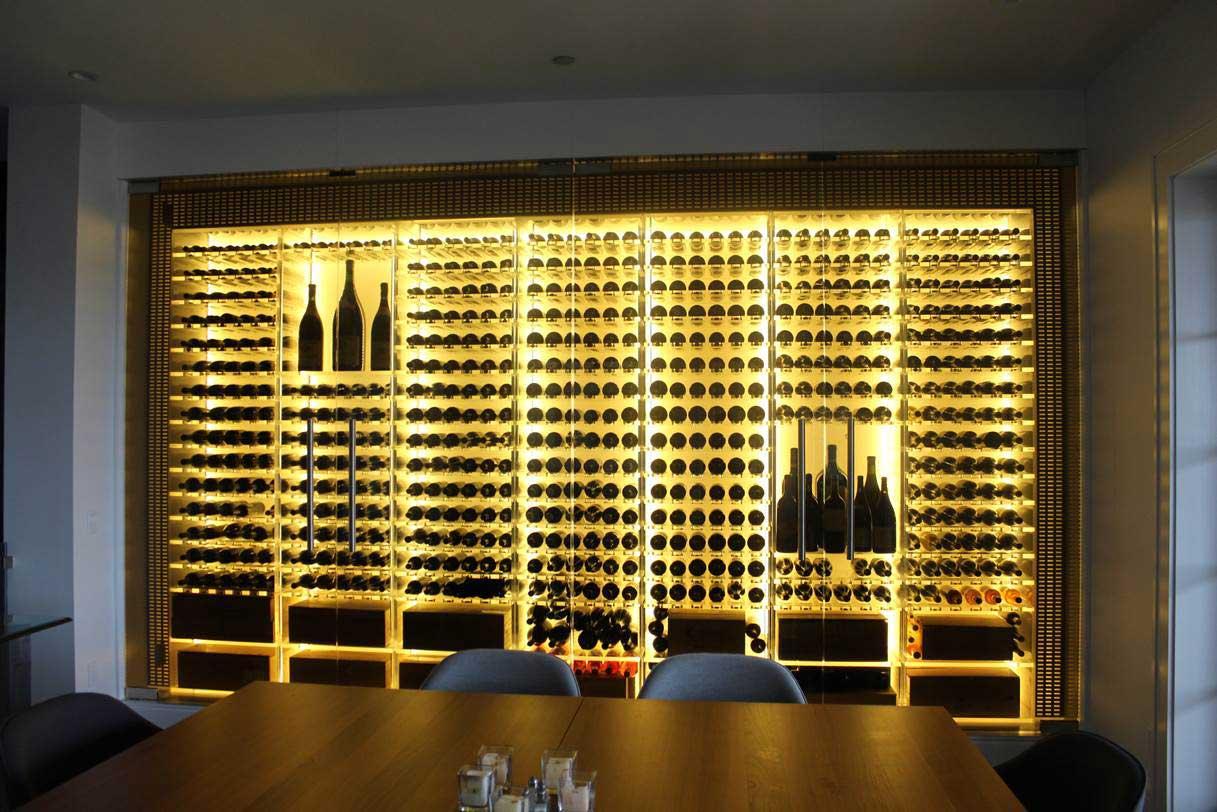 patton cellar modern wine case lighting