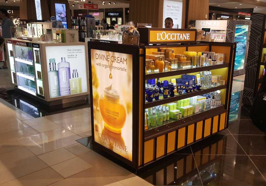 product kiosk LED lighting display