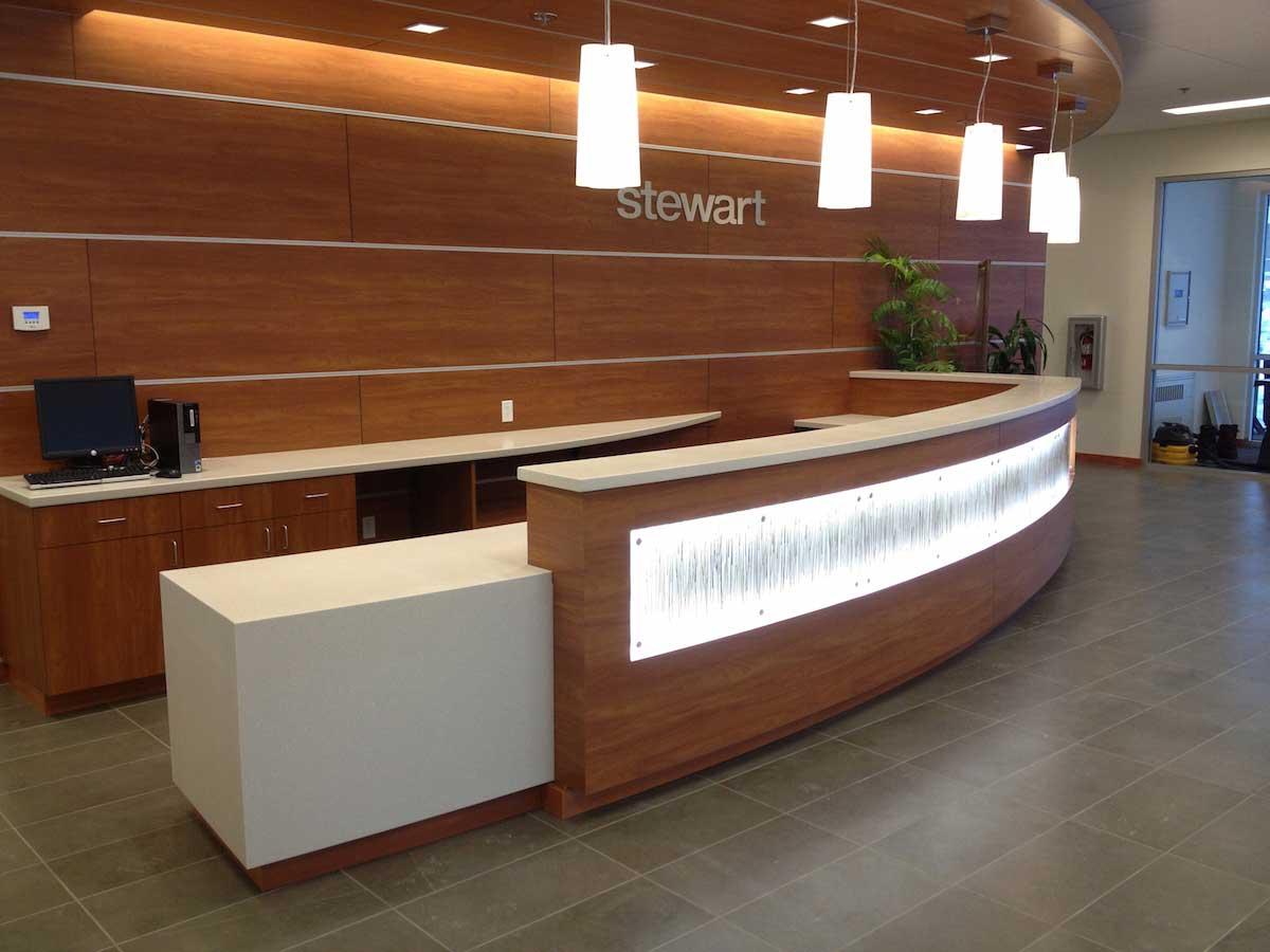 reception area accent lighting