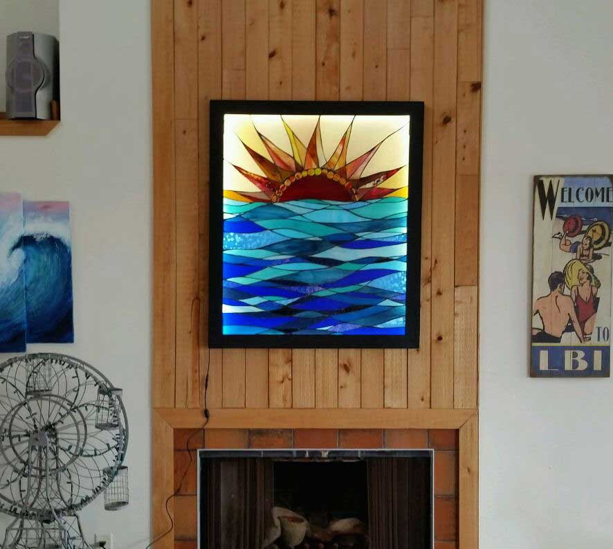 stained glass backlighting with LED strips