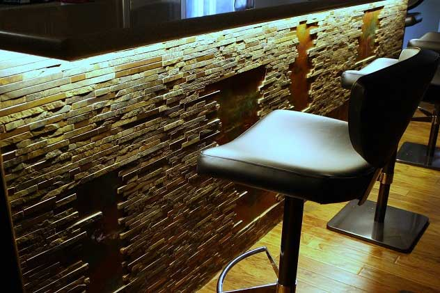 under counter bar lighting with LED strip