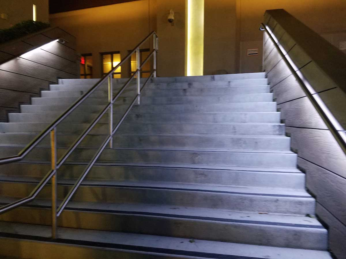 Lighting Basement Washroom Stairs: Commercial LED Strip Lighting Projects From Flexfire LEDs