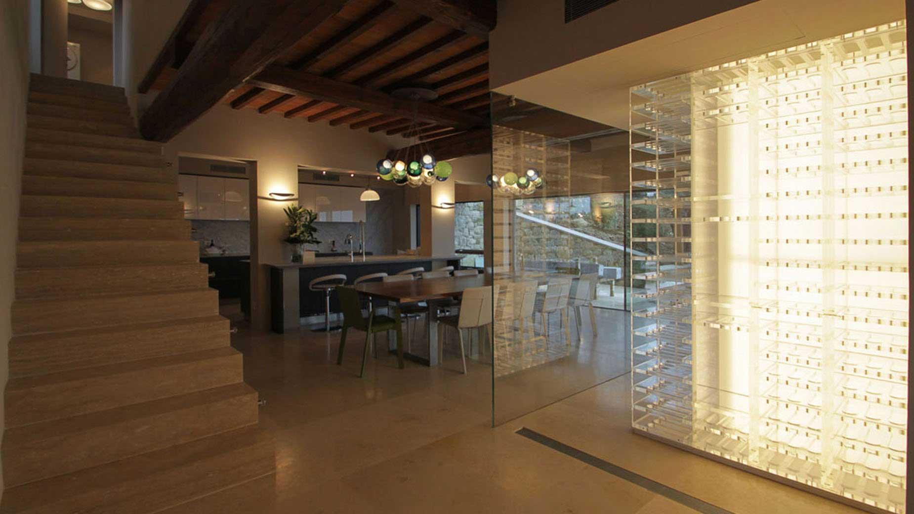 modern wine cellar lighting design