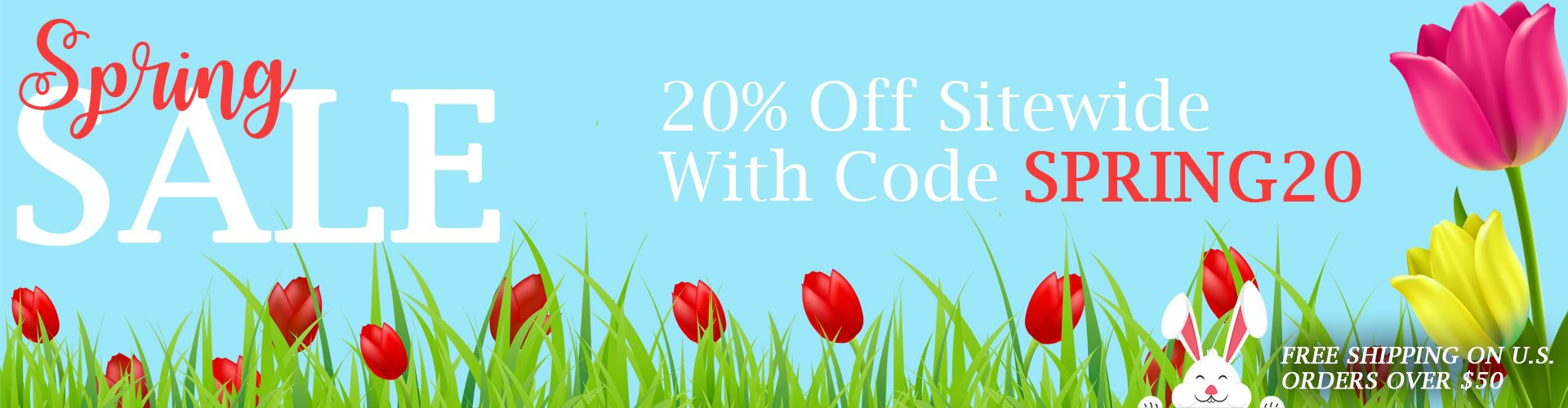 Spring sale! Save 20% off sitewide with code: SPRING20. Free shipping on U.S. orders over $50.00.