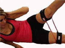 Abdominal workouts using resistance bands