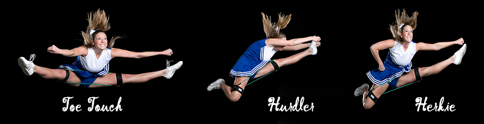 Cheerleading Jumps: Toe Touch, Hurdler, and Herkie