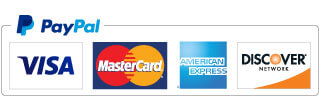 Accepted forms of payment: PayPal, Visa, Mastercard, Discover, and American Express