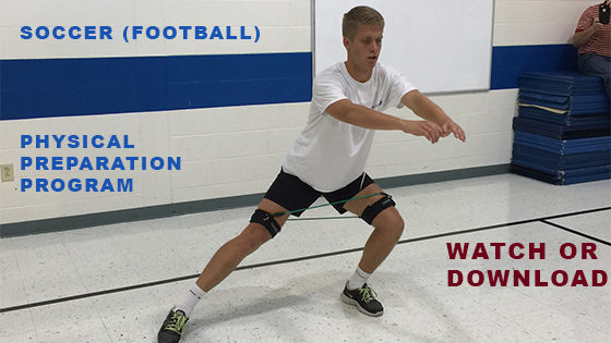 Boy practicing soccer using the soccer (football) physical preparation program