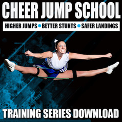 "Download our 8 Step Cheerleading Training Series ""Cheer Jump School""."