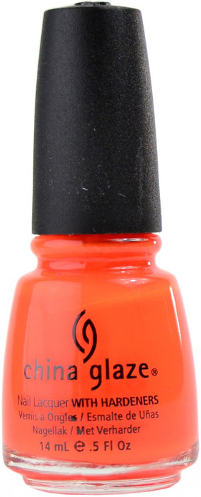 China Glaze Orange Knockout (Neon) nail polish