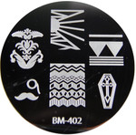 Bundle Monster Image Plate #BM-402: Coffin, Mustache, Full Nail