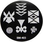 Bundle Monster Image Plate #BM-403: Full Nail, Flower, Wheel