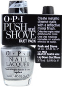 OPI PUSH AND SHOVE w/ Free Mirror Enhanced Base Duet Pack