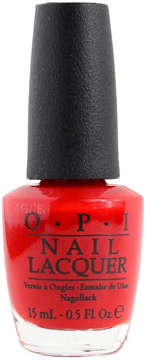 OPI Red Hot Rio, Free Shipping at Nail Polish Canada