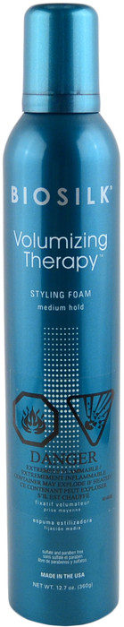 Biosilk Volumizing Therapy Medium Hold Styling Foam (12.7 oz. / 360 g)