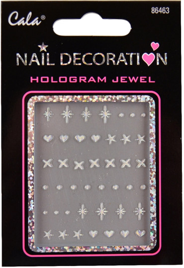 Cala Diamond Stars, Hearts, Stars 3D-Nail Decal