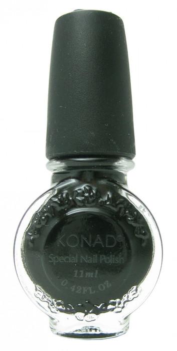 Black (Special Polish) by Konad Nail Stamping