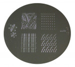 Image Plate #M60 (Full Nail, Flowers, Lattice) by Konad Nail Stamping