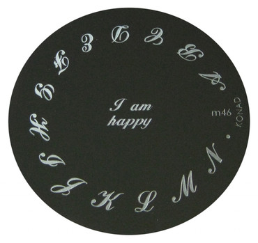 Image Plate M46 Words By Konad Nail Stamping Nail Polish